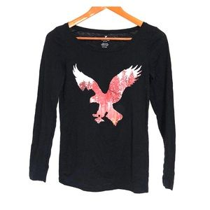 AMERICAN EAGLE OUTFITTERS Long Sleeve Graphic Tee